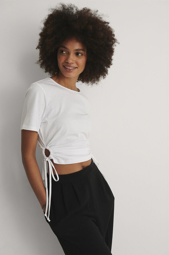 Cut Out Cropped T-shirt