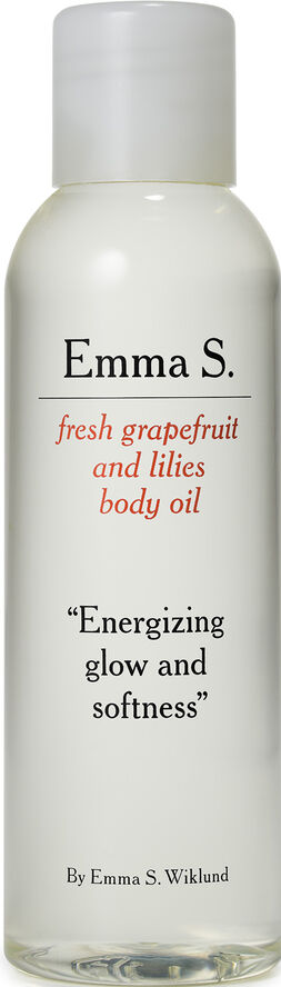 Emma S. fresh grapefruit and lilies body oil