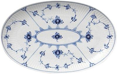 Blue Fluted Plain 23 cm oval tallrik
