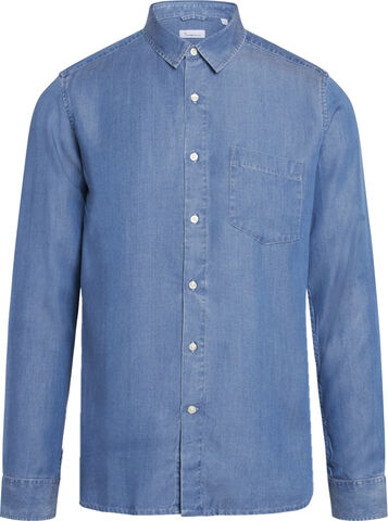 ELDER regular fit denim Tencel shirt
