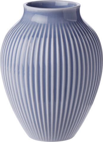 Knabstrup, vas räfflor, lavendelblå, 12,5 cm