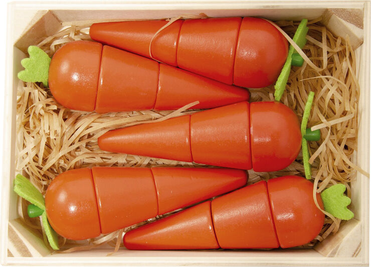 5 Gulerødder med magnet i en boks