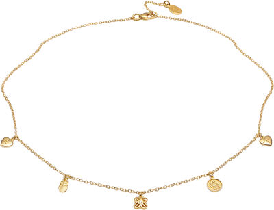 People necklace VERMEIL (925 Sterling silver gold plated 2.5 micron)