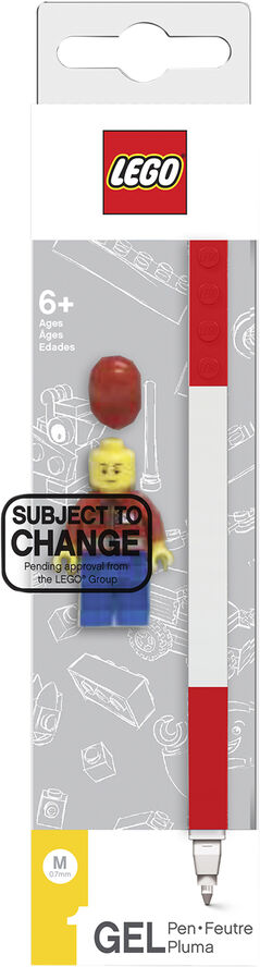 Gel pen, 1 pc. RED, packed in colour box with mini figurine