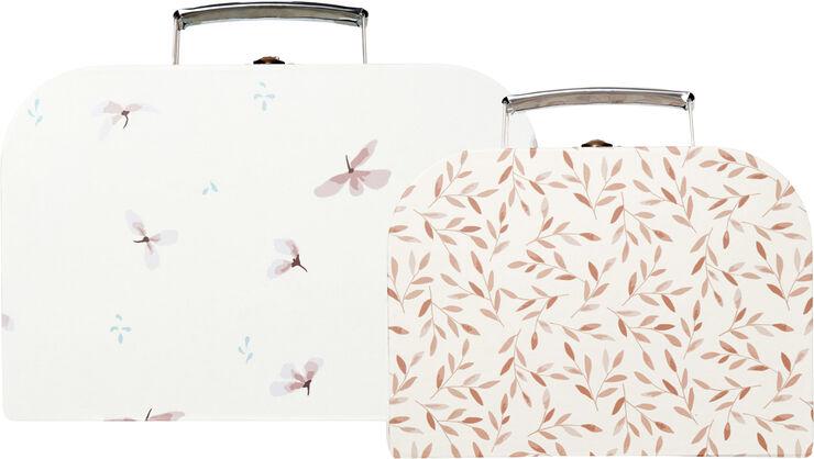 Kids Suitcases, Set of 2, FSC - Mix Windflower Creme, Carame