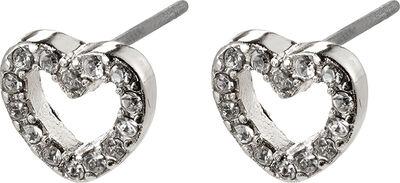 Øreringe, edie, sølvbelagt, krystal