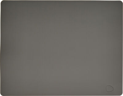 TABLE MAT SQUARE L (35x45cm) SOFTBUCK dark grey