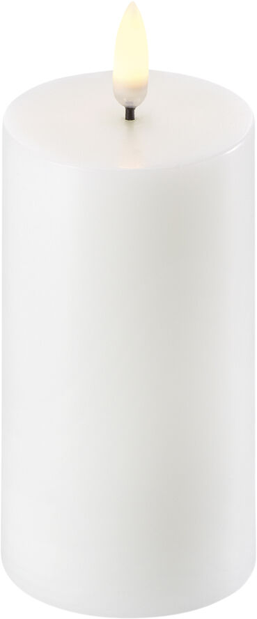 UYUNI Lighting - LED Pillar Candle - Nordic White - 5,8 x 10 cm