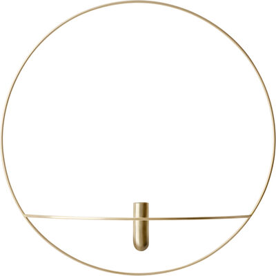 POV Circle, Vase, L, Brass
