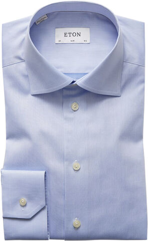 Light Blue Signature Twill Shirt - Slim Fit
