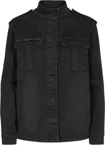 Karmey shirt jacket wash Cool Black