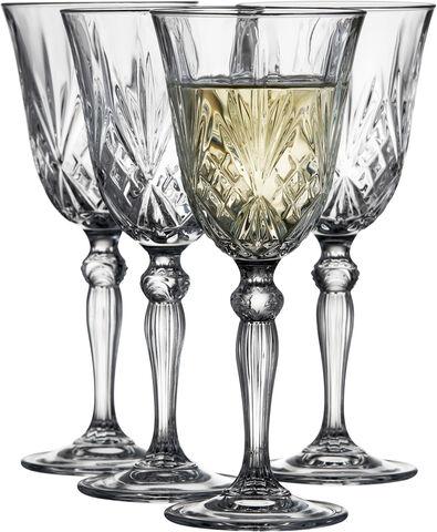 Lyngby Glas Krystal Melodia Vittvinsglas 21 cl 4 st Clear