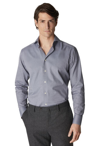 Gray Flannel Shirt - Contemporary Fit