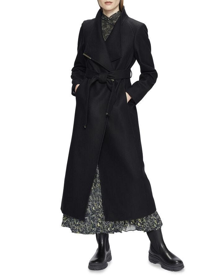 ROSELL Long Length Wool Wrap Coat