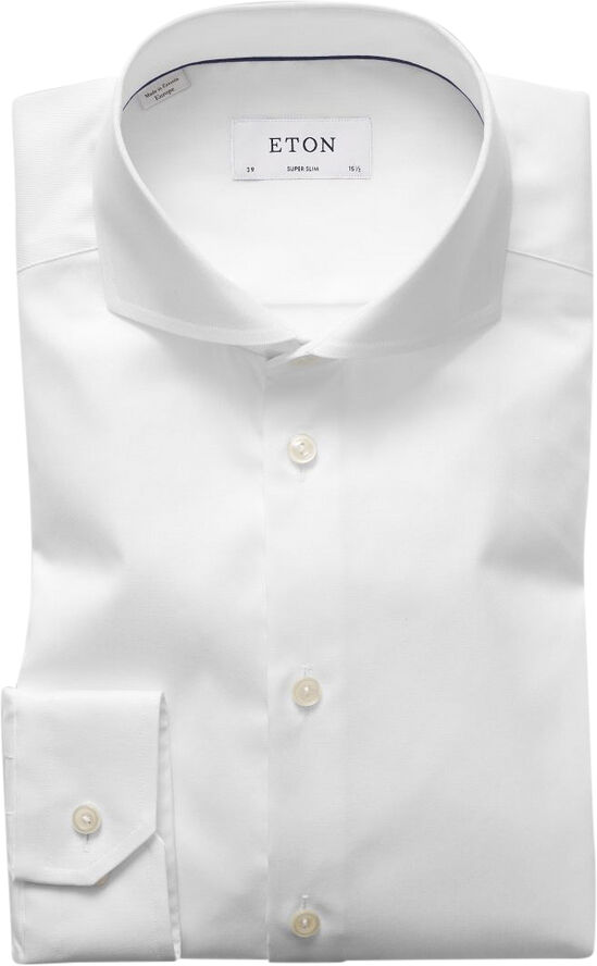 Light Blue Signature Twill Shirt - Extreme Cut Away Collar - Slim Supe