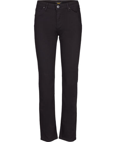Marion straight black rinse jeans