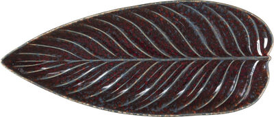 Serveringsfat avlang løv Riviera 40 x 17 cm Granat/svart