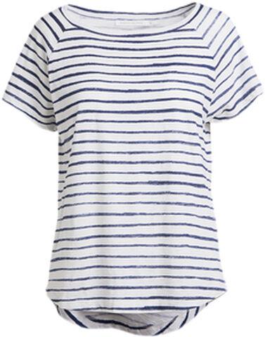 Chalk stripe raglan T-shirt