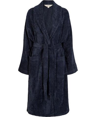 Velour robe marine blue - Organic GOTS