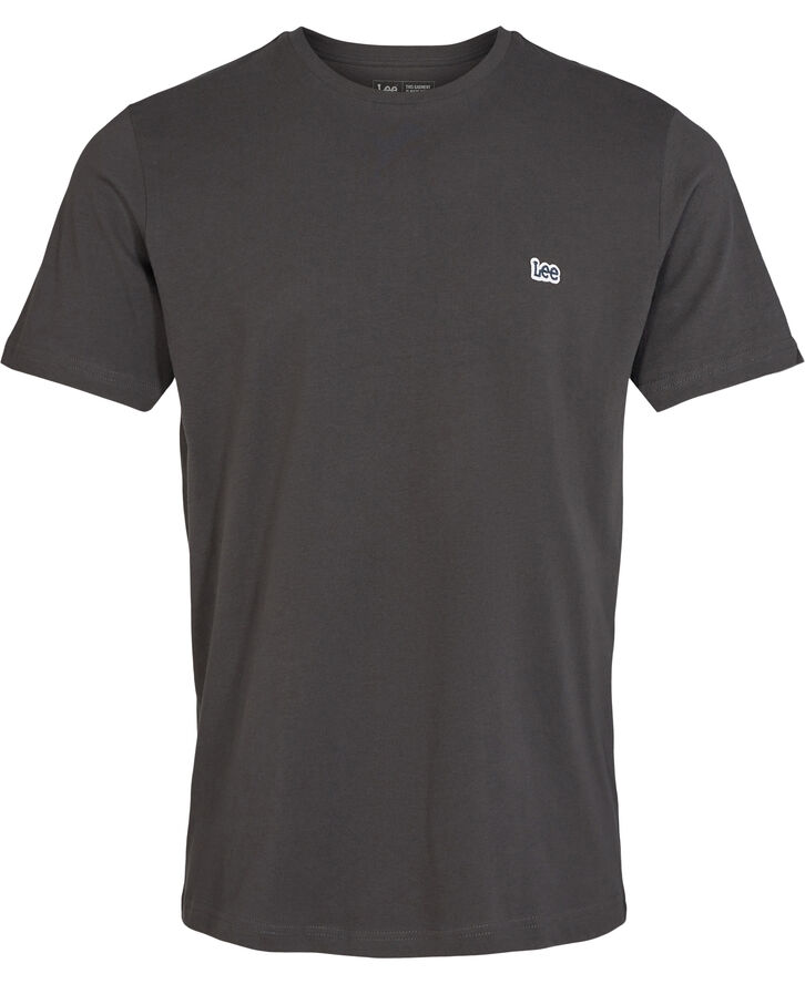 SS PATCH LOGO TEE WASHED BLACK