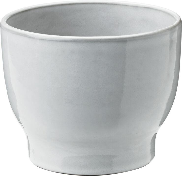 Ytterkrukor, vit, Ø 12,5 cm