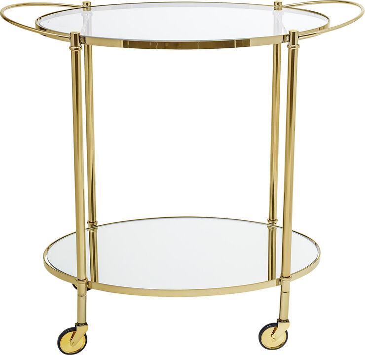 Fine bar bord, guld, glas