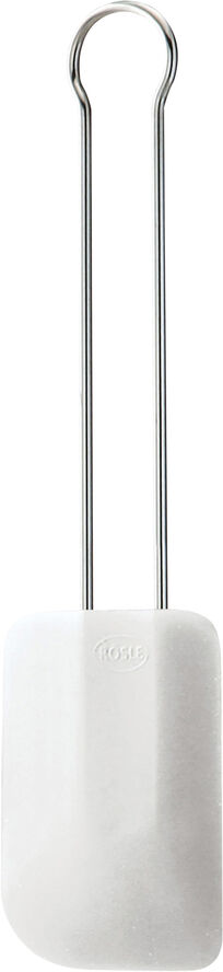 Slikkepott 32 cm Stål/Hvit/Silikon