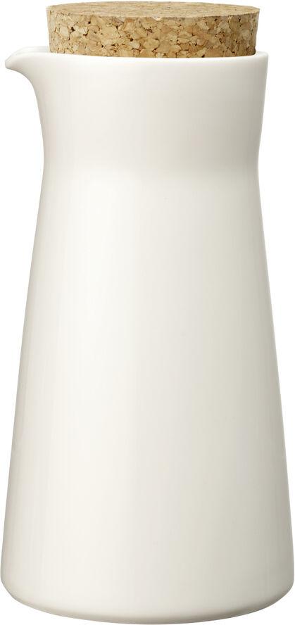 Teema karaff 20 cl med trälock vit